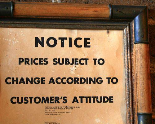 customer attitude